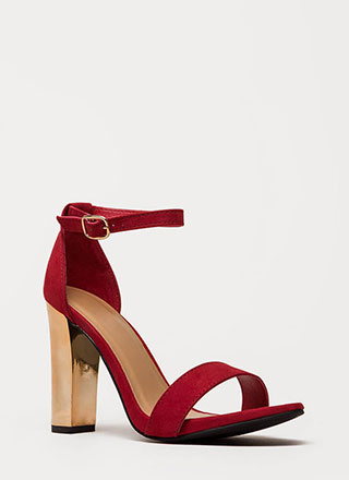 Well Dressed Faux Suede Chunky Heels