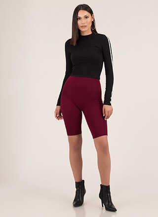 So Long High-Waisted Capri Biker Shorts