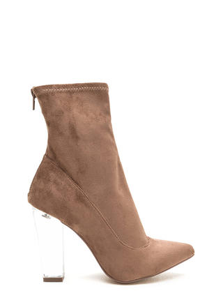 Great Point Chunky Lucite Booties