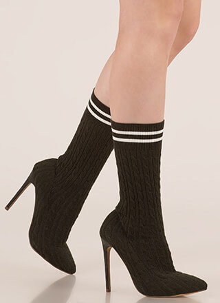 Knit's A Hit Pointy Sock Booties