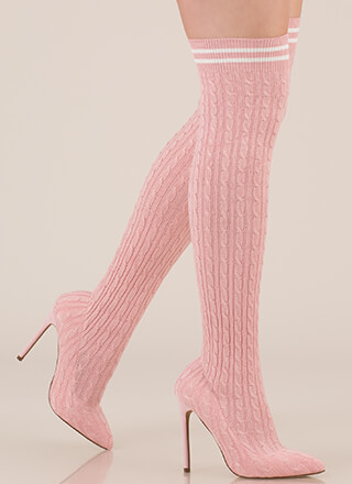 Knit's A Hit Thigh-High Sock Boots