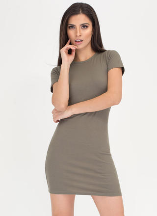 Learn The Basics Ribbed Minidress