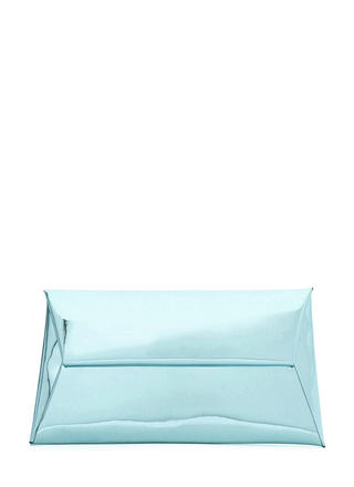 Reflecting Pool Metallic Envelope Clutch