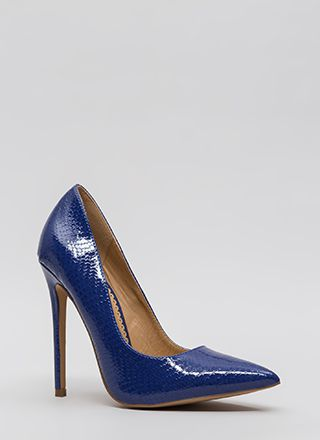 Snake A Look Pointy Heels