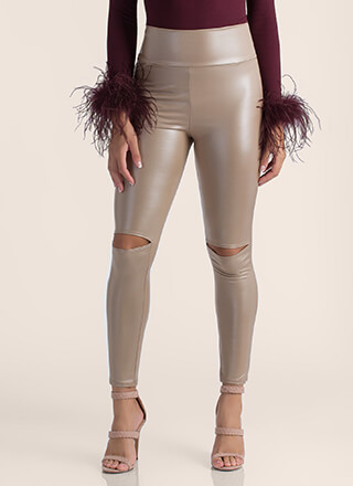 Weak In The Knees Smooth Slit Leggings
