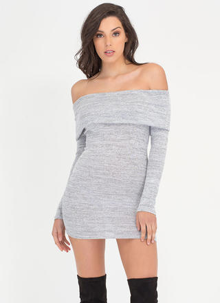 Knit Us Up Off-Shoulder Minidress