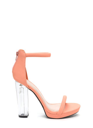 Beyond Clear Chunky Lucite Heels