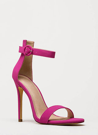 6dec519625a2 Chic Now Strappy Faux Nubuck Heels