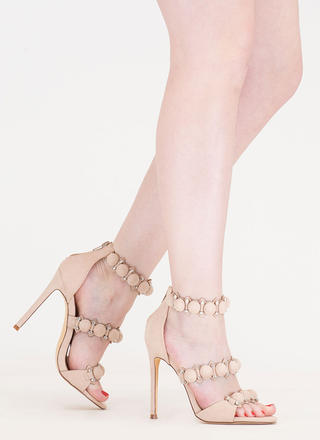 Dome Sweet Dome Stud Strap Heels