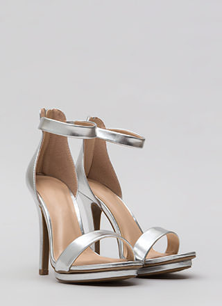 Living Single Metallic Platform Heels