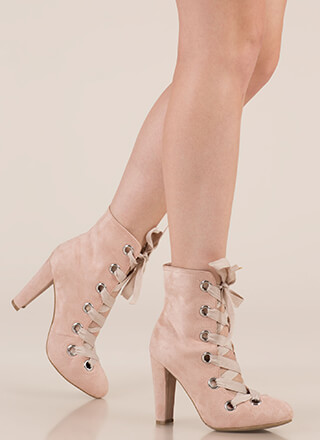 Grommet Girl Chunky Lace-Up Booties
