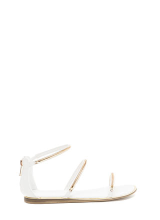 Line By Me Faux Leather Chain Sandals