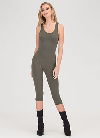 Short And Simple Cropped Full Bodysuit