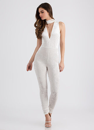My Latest Crush Velvet Plunging Jumpsuit