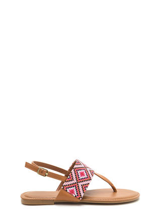 Diamond In The Rough T-Strap Sandals