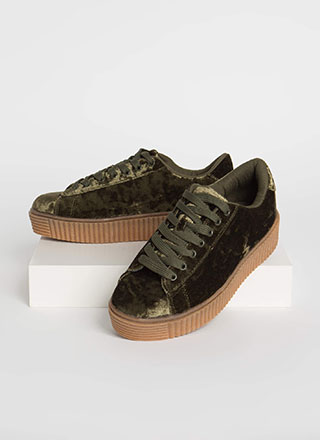 Crushing This Velvet Creeper Sneakers