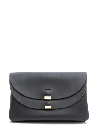 Double Duty Faux Leather Crossbody Bag