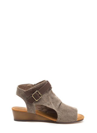 Good Coverage Canvas Wedge Sandals