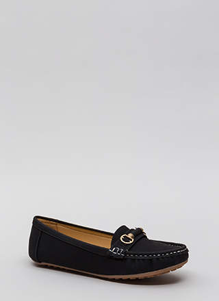 Yes Smoking Faux Suede Loafers