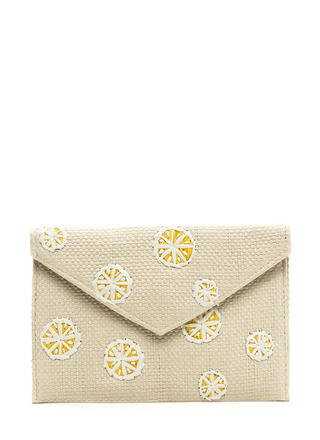 When Life Gives You Lemons Woven Clutch