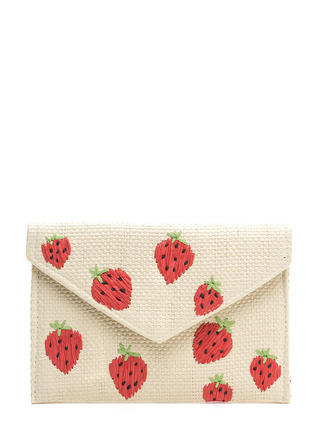 Strawberry Fields Forever Woven Clutch