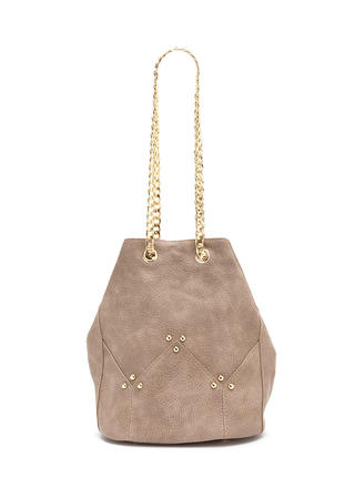 Quick Stud-y Faux Leather Bucket Bag