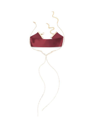 Luxe Nice Satin Faux Jewel Necklace Set