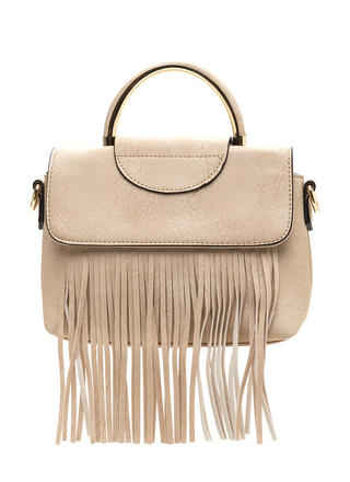 Fancy Fringe Faux Leather Bag