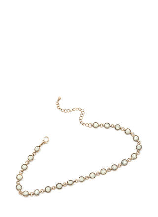 Dainty Choice Faux Stone Necklace