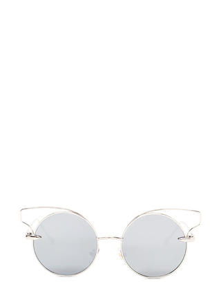 Round Of Silence Cut-Out Sunglasses