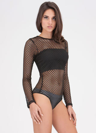 Networking Potential Sheer Bodysuit
