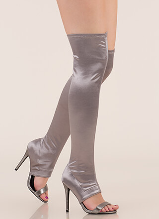 Epic Night Cut-Out Satin Stiletto Boots