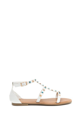 Boho Babe Embellished Caged Sandals