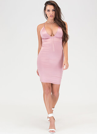 The Silky Way Strappy Plunging Dress