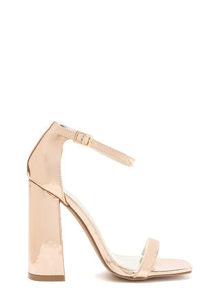 Stand Out Chunky Metallic Heels