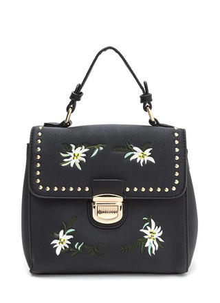 Sweet Bouquet Embroidered Studded Bag