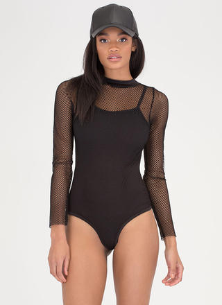 Netted Gain Sports Mesh Bodysuit