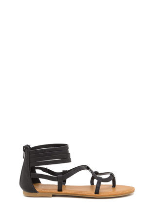Gladiator Chic Strappy Caged Sandals