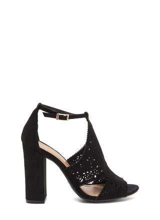 Style Decision Chunky Perforated Heels