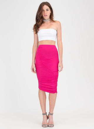 Ruche Into Things Drawstring Skirt