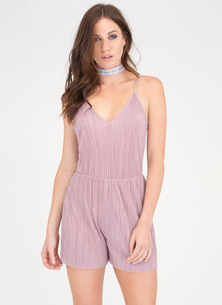 Say The Magic Word Pleated Romper