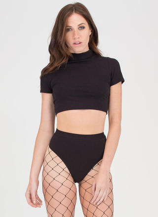 Play By Ear Crop Top 'N Briefs Set