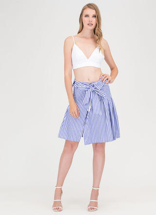 Shirt Why Not Striped Tied Skirt