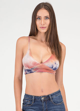 Ink Before You Speak Tie-Dye Crop Top