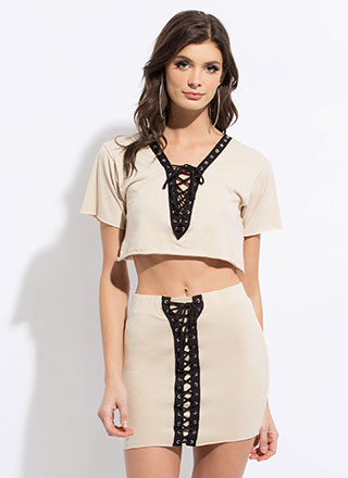 All Laced Up Two-Piece Minidress