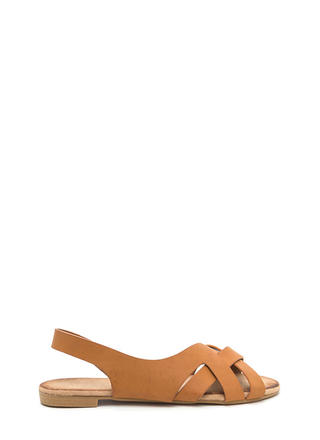 Vacay Vibes Woven Faux Leather Sandals