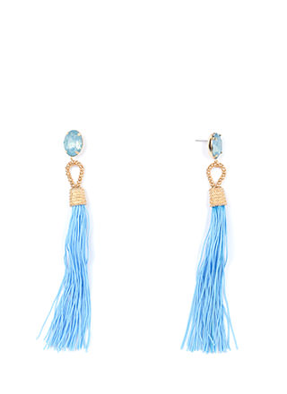 Not A Tassel Faux Jewel Earrings