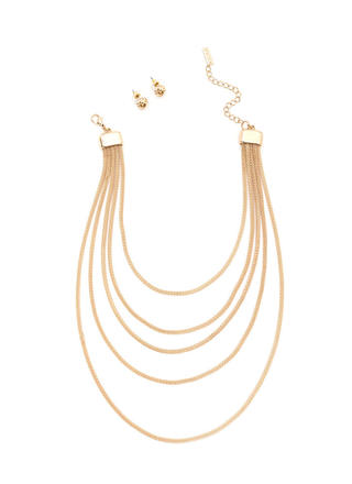 Glam Take Layered Chain Necklace Set