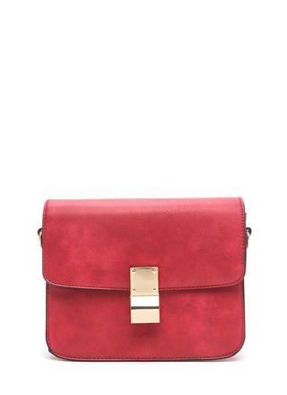 Chic To Me Faux Leather Crossbody Bag