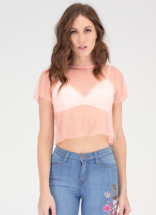 Sheer Us What You've Got Mesh Top